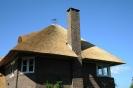 Schoorsteen in nieuw rieten dak